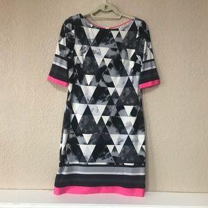 Eliza J Abstract Dress